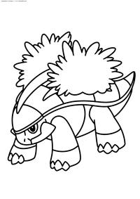 Покемон Гротл (Grotle) - скачать и распечатать раскраску. Раскраска Покемон