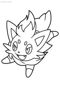Покемон Зоруа (Zorua) - скачать и распечатать раскраску. Раскраска Покемон