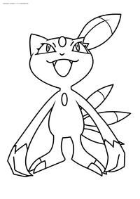 Покемон Снизил (Sneasel) - скачать и распечатать раскраску. Раскраска Покемон