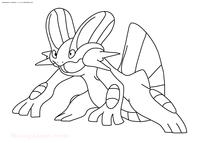 Покемон Свамперт (Swampert) - скачать и распечатать раскраску. Раскраска Покемон