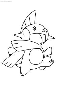 Покемон Марштомп (Marshtomp) - скачать и распечатать раскраску. Раскраска Покемон