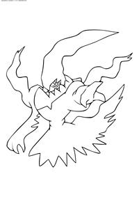 Легендарный покемон Даркрай (Darkrai) - скачать и распечатать раскраску. Раскраска Покемон