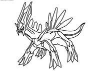 Легендарный покемон Диалга (Dialga) - скачать и распечатать раскраску. Раскраска Покемон