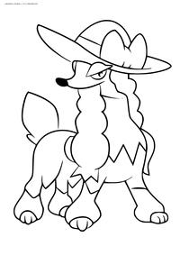 Покемон фурфу (Furfrou). Стиль делегата - скачать и распечатать раскраску. Раскраска Покемон