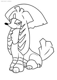 Покемон Фурфу (Furfrou). Стиль кабуки - скачать и распечатать раскраску. Раскраска Покемон