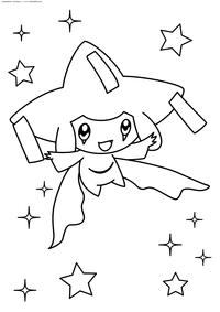 Легендарный покемон Джирачи (Jirachi) - скачать и распечатать раскраску. Раскраска Покемон