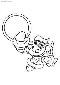 Легендарный покемон Хупа (Hoopa) - скачать и распечатать раскраску. Раскраска Покемон