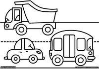 Дорога - скачать и распечатать раскраску. Раскраска Раскраска машины, раскраска дорога для малышей, простые раскраски для малышей распечатать бесплатно
