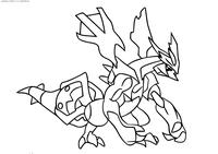 Легендарный покемон Кюрем (Kyurem) - скачать и распечатать раскраску. Раскраска Покемон