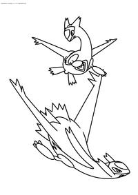 Легендарные покемоны Латиос (Latios) и Латиас (Latias) - скачать и распечатать раскраску. Раскраска Покемон
