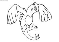 Легендарный покемон Лугиа (Lugia) - скачать и распечатать раскраску. Раскраска Покемон
