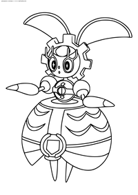 Легендарный покемон Магеарна (Magearna) - скачать и распечатать раскраску. Раскраска Покемон