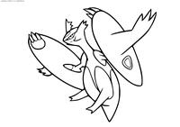 Покемон Мега Латиас (Mega Latias) - скачать и распечатать раскраску. Раскраска Покемон