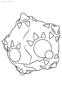 Покемон Миниор (Minior) - скачать и распечатать раскраску. Раскраска Покемон