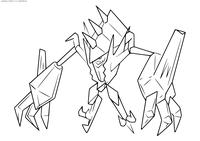 Легендарный покемон Некрозма (Necrozma) - скачать и распечатать раскраску. Раскраска Покемон
