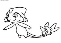 Легендарный покемон Азельф (Azelf) - скачать и распечатать раскраску. Раскраска Покемон