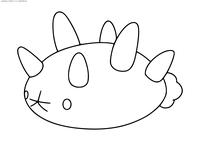 Покемон Пьюкумуку (Pyukumuku) - скачать и распечатать раскраску. Раскраска Покемон