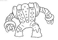 Легендарный покемон Реджигигас (Regigigas) - скачать и распечатать раскраску. Раскраска Покемон
