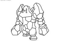 Легендарный покемон Реджирок (Regirock) - скачать и распечатать раскраску. Раскраска Покемон