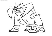 Легендарный покемон Терракион (Terrakion) - скачать и распечатать раскраску. Раскраска Покемон