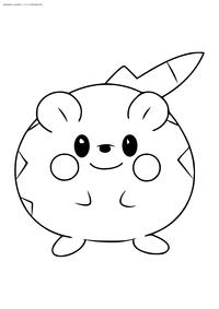 Покемон Тогедемару (Togedemaru) - скачать и распечатать раскраску. Раскраска Покемон