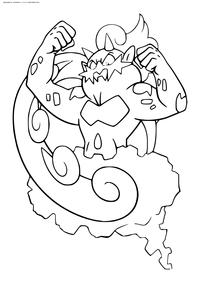 Легендарный покемон Торнадус (Tornadus) - скачать и распечатать раскраску. Раскраска Покемон