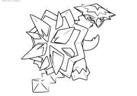 Покемон Туртонатор (Turtonator) - скачать и распечатать раскраску. Раскраска Покемон