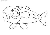 Покемон Вишиваши (Wishiwashi) - скачать и распечатать раскраску. Раскраска Покемон