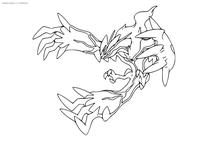 Легендарный покемон Ивельталл (Yveltal) - скачать и распечатать раскраску. Раскраска Покемон
