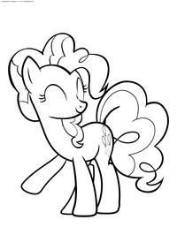 Пинки Пай - скачать и распечатать раскраску. Раскраска Пони