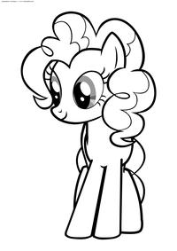 Пони Пинки Пай - скачать и распечатать раскраску. Раскраска Пони
