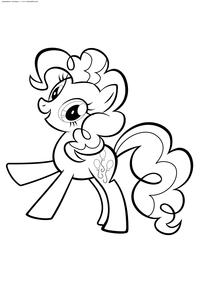 Веселая Пинки Пай - скачать и распечатать раскраску. Раскраска Пони