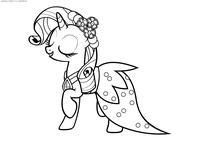 Пони Рарити - скачать и распечатать раскраску. Раскраска Пони