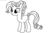 Единорог Рарити - скачать и распечатать раскраску. Раскраска май литл пони