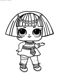 ЛОЛ Pharaon Babe конфетти поп (Фараон) - скачать и распечатать раскраску. Раскраска лол