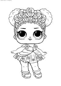 ЛОЛ Flower CHILD конфетти поп (Цветочек) - скачать и распечатать раскраску. Раскраска лол