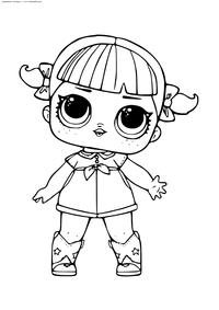 ЛОЛ серия 1 куколка Тансовщица - скачать и распечатать раскраску. Раскраска лол