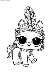 ЛОЛ питомец Пони - скачать и распечатать раскраску. Раскраска лол
