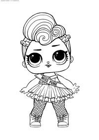 ЛОЛ серия 2 Мисс Панк - скачать и распечатать раскраску. Раскраска лол