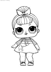 ЛОЛ серия 1 сестренка Свинг - скачать и распечатать раскраску. Раскраска лол