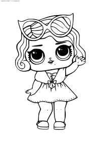 ЛОЛ Leading Baby (Леди Гламур) серия 1  - скачать и распечатать раскраску. Раскраска лол