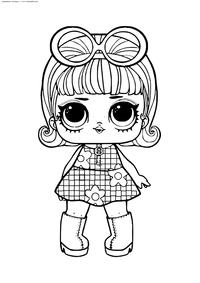ЛОЛ конфетти поп Девочка Гоу-Гоу - скачать и распечатать раскраску. Раскраска лол