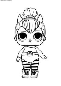 ЛОЛ серия 2 куколка чертенок Перчинка - скачать и распечатать раскраску. Раскраска лол