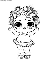 ЛОЛ конфетти поп Куколка - скачать и распечатать раскраску. Раскраска лол