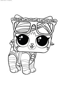 ЛОЛ пушистый питомец Shorty Kitty - скачать и распечатать раскраску. Раскраска лол, питомец