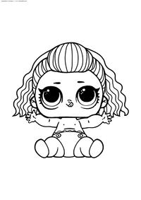 ЛОЛ малышка БиБи из 80-х - скачать и распечатать раскраску. Раскраска лол
