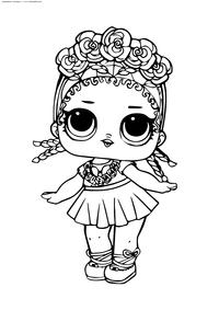 ЛОЛ Coconut серия 2 (куколка Кокос) - скачать и распечатать раскраску. Раскраска лол