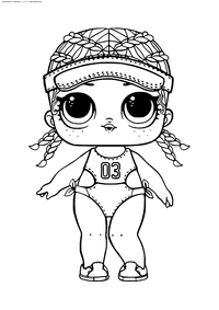 ЛОЛ Spike конфетти поп (Леди Бегунья) - скачать и распечатать раскраску. Раскраска лол