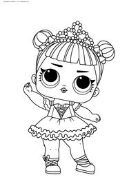 ЛОЛ серия 1 Балерина - скачать и распечатать раскраску. Раскраска лол