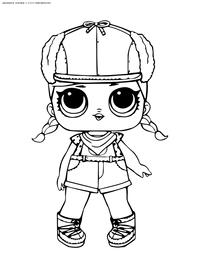 ЛОЛ серия 2 куколка BRRR В.В. - скачать и распечатать раскраску. Раскраска лол